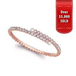 Z124-ZL0940 – Faux Pearl & Crystal Bangle – 02-26-19
